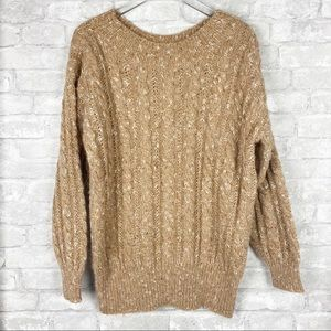 Liz Claiborne Oversized Chunky Cable Knit Sweater